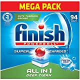 dry dishwasher - Finish All in 1 Powerball Fresh, 94ct, Dishwasher Detergent Tablets