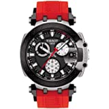 Tissot mens T-Race Chrono Quartz Stainless Steel Casual Watch Red T1154172705100