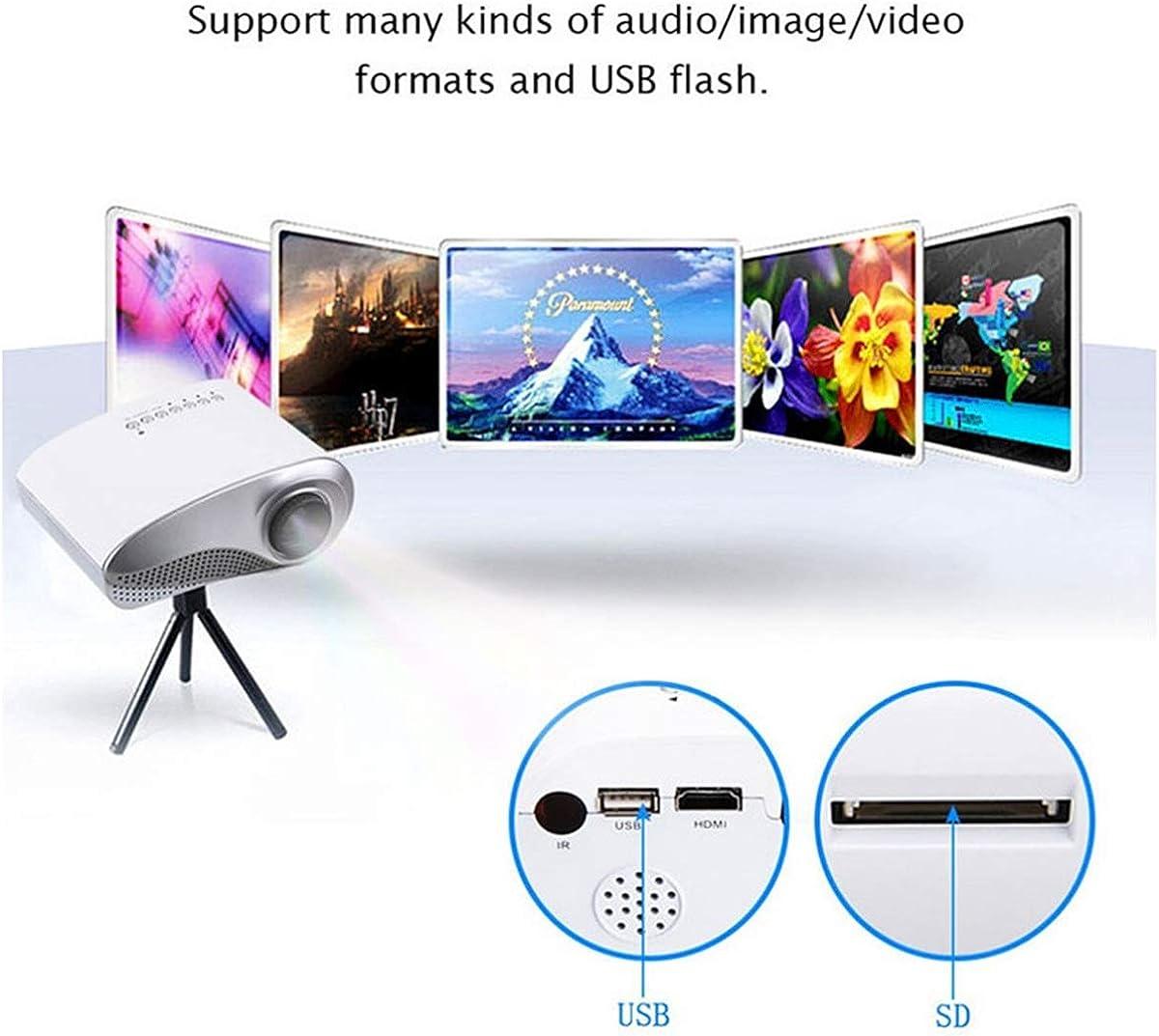 HaiQianXin Mini proiettore LED Portatile 720P HDMI//USB//Scheda SD//TF//VGA//AV Max Display da 100per intrattenimento Home Theater