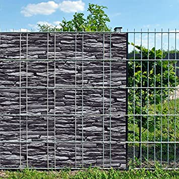 Fence visibility strips for double bar mats including clamping rails