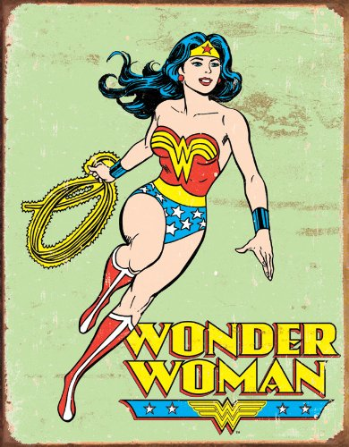 Wonder Woman Retro Metal Tin Sign , 12x16 by Poster Discount