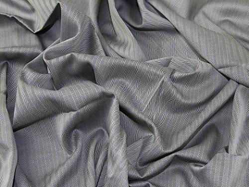 (Minerva Crafts Italian 100% Cotton Herringbone Weave Suiting Dress Fabric Silver Grey - per metre)