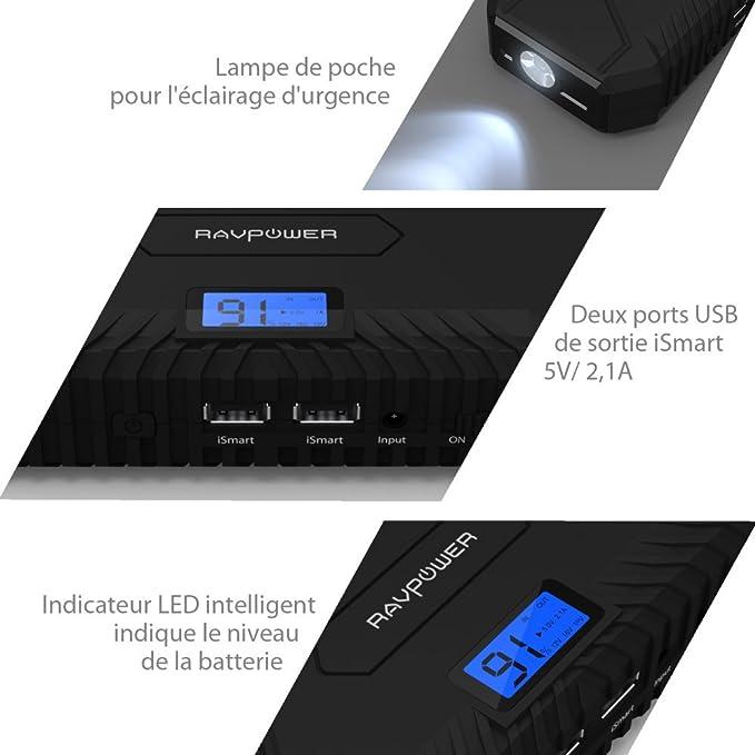 Battery Booster 14000 Mah Ravpower Portable Car Amazon Co Uk Electronics