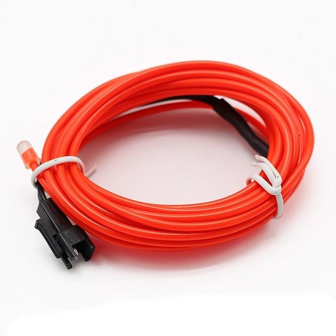 SZFC 5M(16,4ft) EL Wire Kabel Lichtschnur Band Lichtschlauch Leucht ...