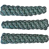 "Rope Dog Toy Stick Pack - Durable Thick Dog Rope Knot Toys 3-Piece Set for Puppies Medium Large Dogs Play Fetch, Tug of War Dental Pet Toy For Teeth Cleaning Natural Cotton Chewers 8"" Length 2"" Wide"