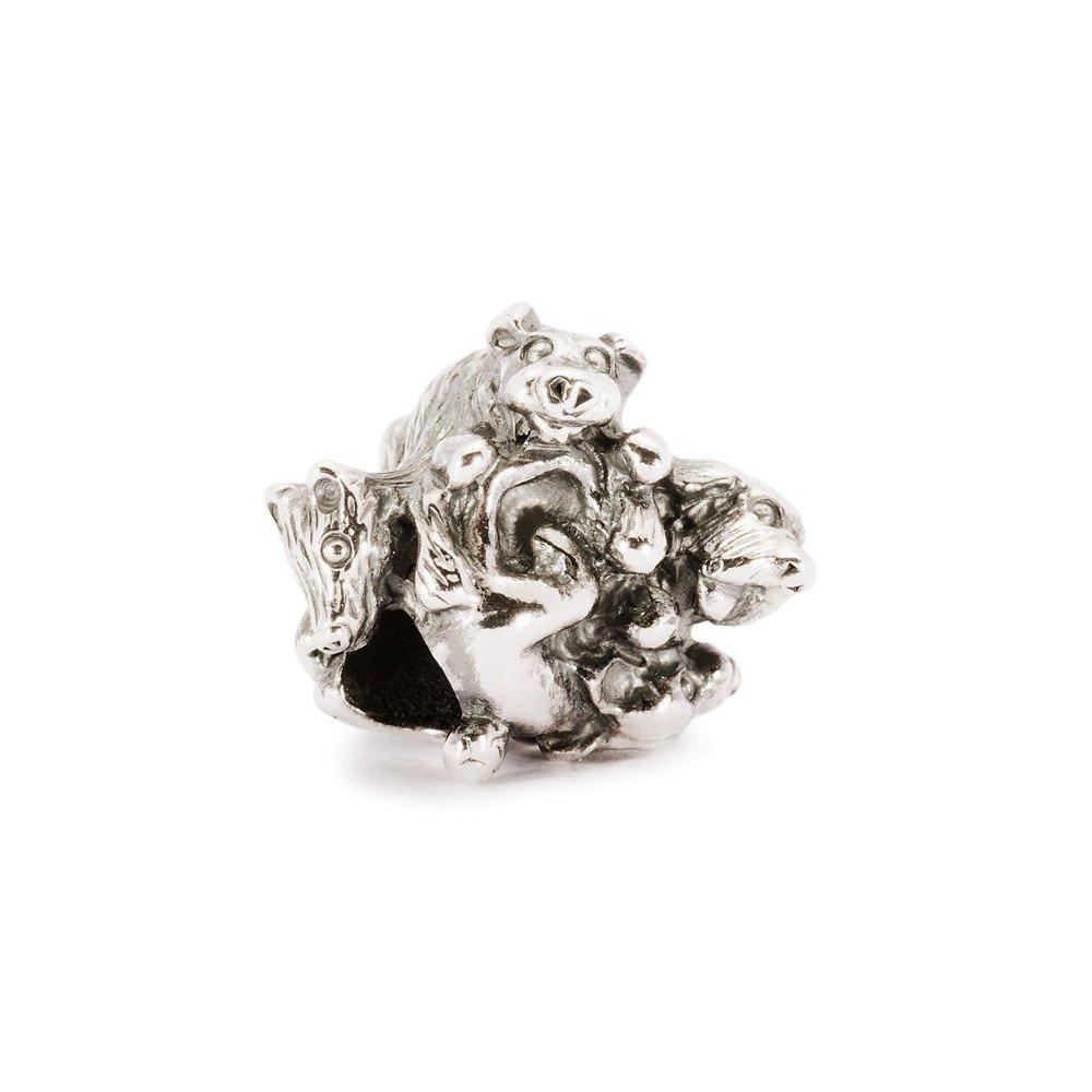 Trollbeads beads en argent 925famille de Chiots 11355