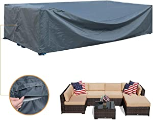 Patio Furniture Covers,Large Sofa Cover Protect Outdoor Table and Chair, Sofa, Sectional Cover(Grey,126x64x29H inches)