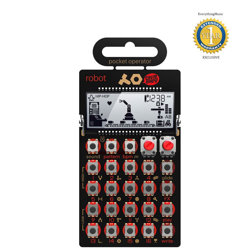 Teenage Engineering PO-28 Pocket Operator Robot Synthesizer with 1 Year Free Extended Warranty