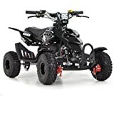 FUN:BIKES FunBikes Kids Mini Quad Bike 49cc 50cc Petrol Quad - Ride On ATV Midi (Black)