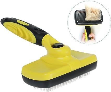 Pet Dog Cat Grooming Self Cleaning Slicker Brush Comb Hair Fur Shedding Tool LE
