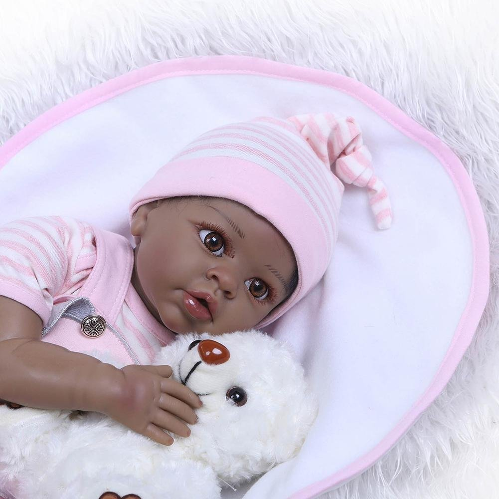chinatera NPK Cute 22inch Soft Silicone Reborn Baby Doll Imitation Newborn Girl Toys by chinatera (Image #5)