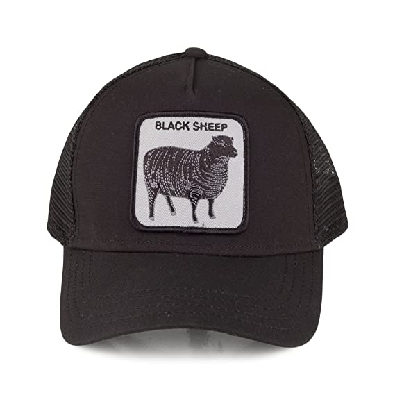 259b436eb4680 Goorin Bros. Black Sheep Trucker Cap - Black Adjustable  Amazon.co ...