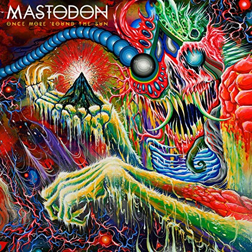 Once More 'Round The Sun (Explicit)(2LP Transparent Green/Solid White Colored Vinyl) (Mastodon Once More Round The Sun Vinyl)