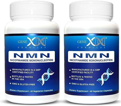 NMN Stabilized Form 250mg Serving Nicotinamide Mononucleotide Direct NAD+ Supplement 2-Pack