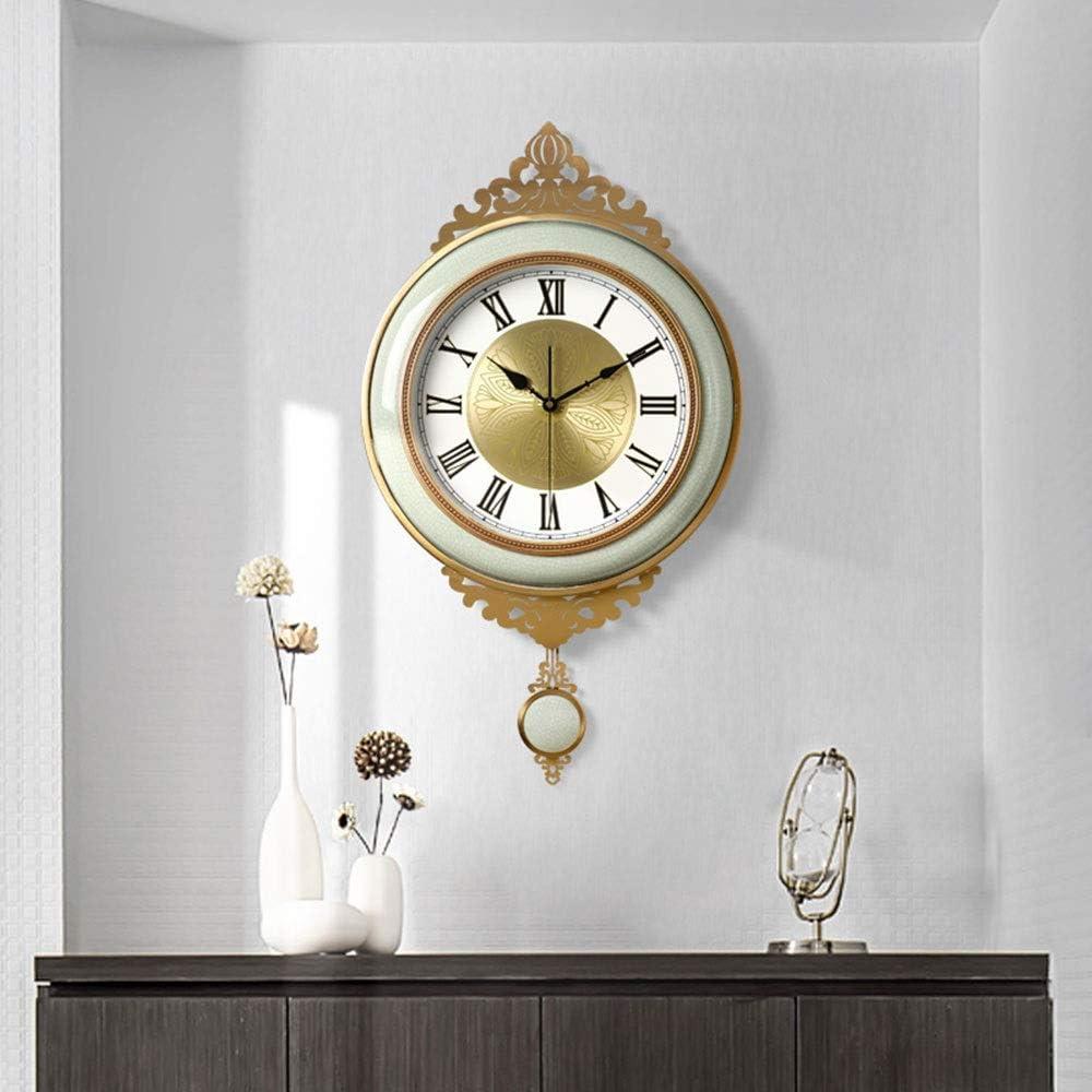 壁掛け時計 - 銅/セラミック/ガラス/パーソナリティ/ホーム/時計、レトロファッションウォールクロックリビングルームのベッドルームクリエイティブミュート時計壁掛け時計 時計 (Size : 45x79.5cm)
