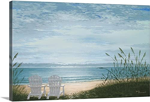 Beach Chairs Canvas Wall Art Print