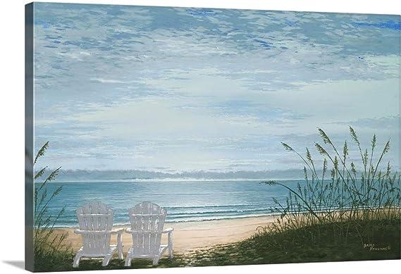 Beach Chairs Canvas Wall Art Print 48 X32 X1 25 Posters Prints Amazon Com