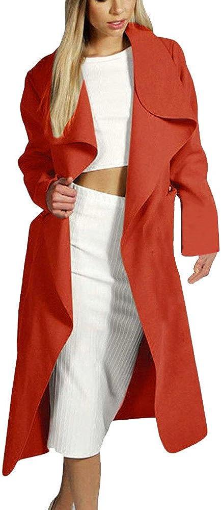 PXiong Womens Slim Long Coat Office Jacket Trench Windbreaker Fashion Cardigan