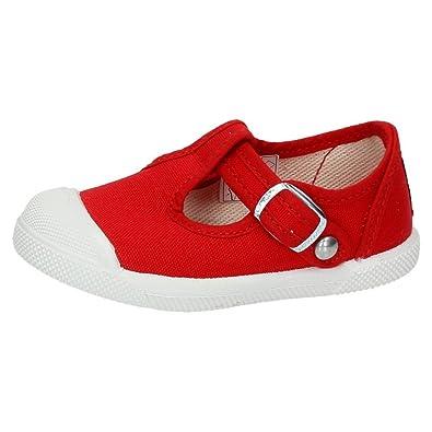 JAVER 151 Bambas DE Lona NIÑO Zapatillas Rojo 21