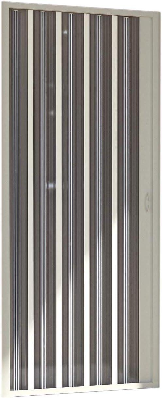 Forte BR120001/Cabine de douche avec porte escamotable blanc r/éversible h 60 x 80 x 185 cm/