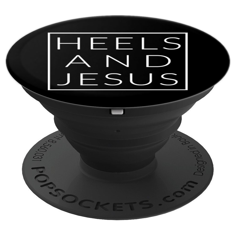 Heels and Jesus, Minimal Christian High Designer Shoe - PopSockets Grip and Stand for Phones and Tablets