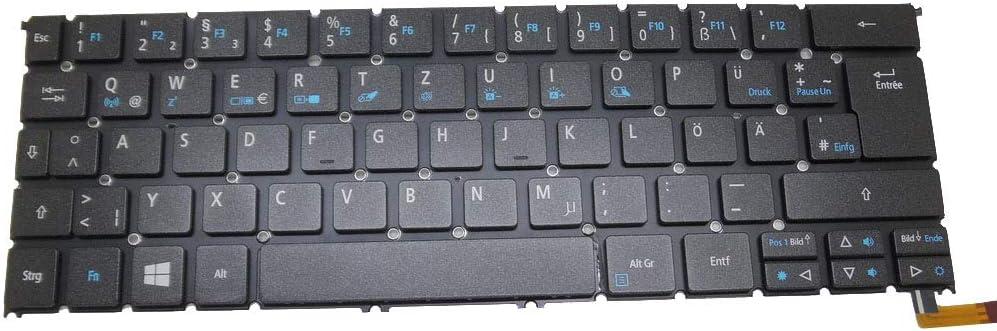 Laptop Keyboard for ACER R7-371T MP-13C66D0J9201 AEZS8G00020 NK.I1213.02E Without Frame German GR Backlit New
