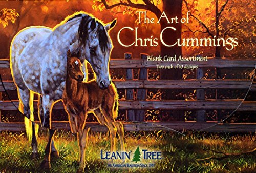 The Art of Chris Cummings - [AST90630] Blank Horse Greeting Card Assortment by Leanin' Tree - 20 cards with full-color interiors and 22 designed envelopes ()