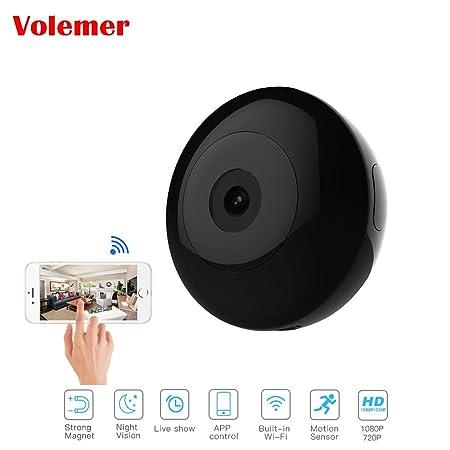 POIIUYY Mini cámara 720P videocámara HD de visión Nocturna IP P2P WiFi videocámara para cámara de acción Exterior Mini videocámara-Agregar Tarjeta de 16G ...