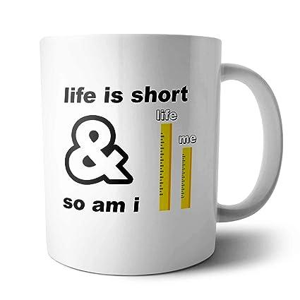 Amazon com: Life Is Short - Mug My Words, Cool, Funny Gifts