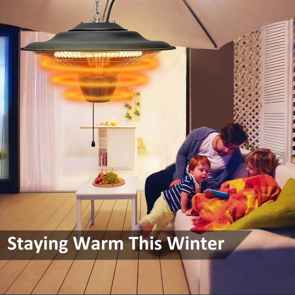 Air Choice Electric Heater Ceiling Mounted Outdoor or Indoor Use Patio Heater 1500W Outdoor Heater Ideal for Balcony