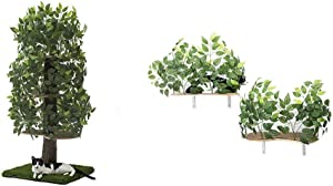 On2 Pets Cat Furniture Tree House Tower & Canopy Shelves for Climbing, Playing, Scratching, and Relaxing