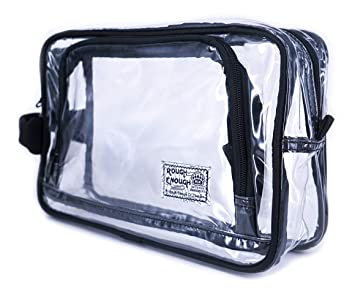 1bd431a079d4 Rough Enough TSA Clear Transparent Cosmetic Toiletry Bag Makeup Case ...