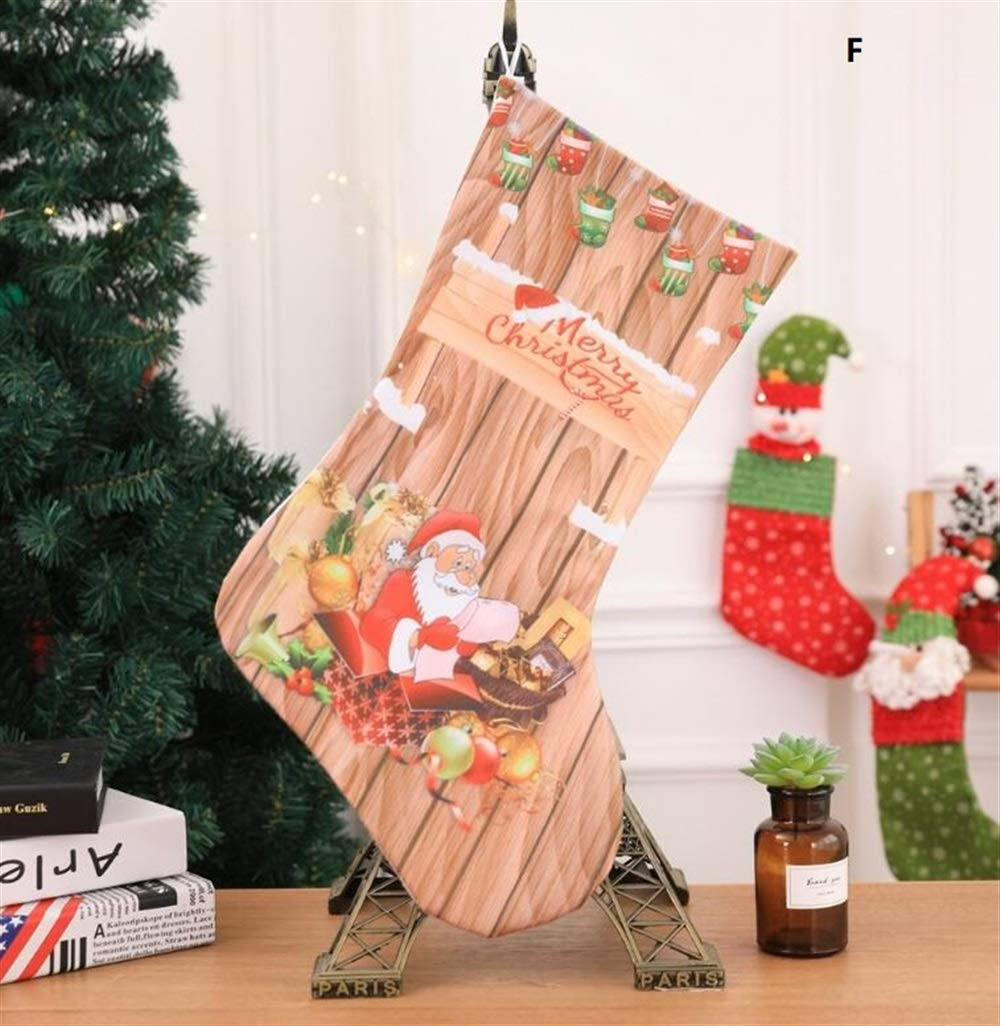 Sevenpring Creative Theme Decorations Christmas Stocking Decoration Christmas Supplies Hotel Bar Party Shopping Mall Pendant(F)