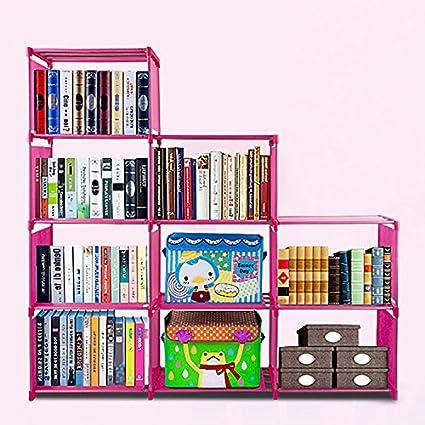 Flyerstoy 8 9 Cubes BookcaseDIY Adjustable Cabinet BookshelfKids Office Bookshelf