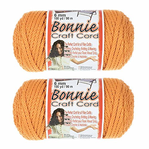 2 Pack Bonnie Macramé Cord - 6mm - 100 Yard Lengths (Carrot)