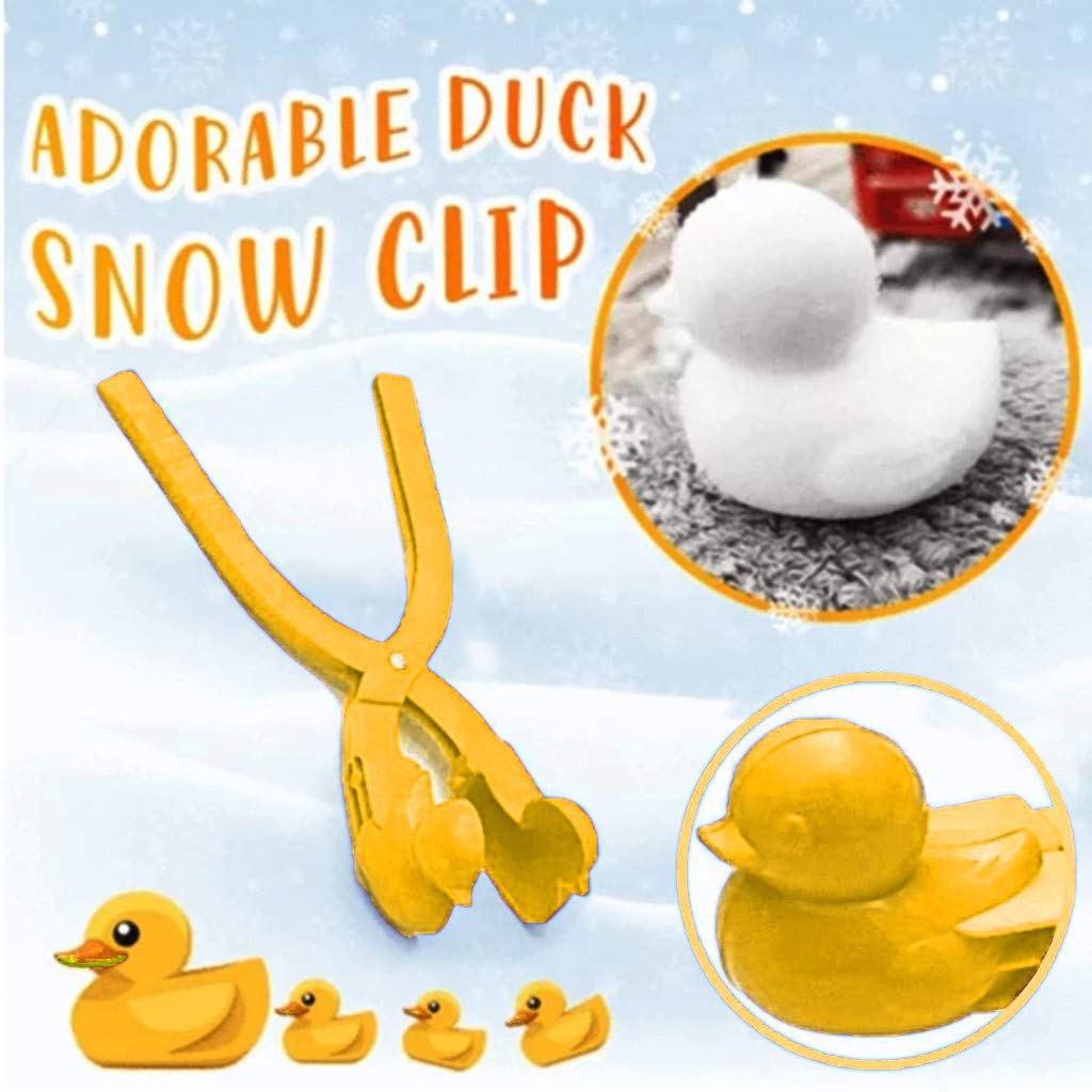 Blue LLguz Snow Making Mold Clip Duck Shape Sand Snowball Maker Mould Toys Play Tool for Winter Kids,8.2x2.3x1.5