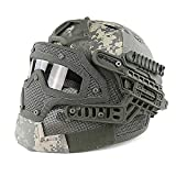 EDTara Multi-function Tactical Helmet System Overall Protection Face Mask and Goggles Helmets For Military Paintball WarGame