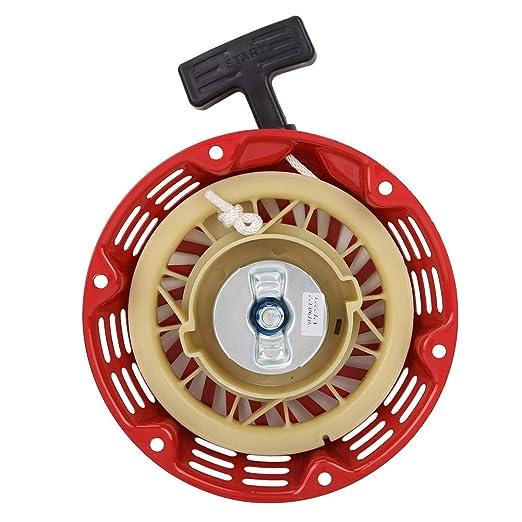 Arrancador de retroceso del generador, Reemplazo del arrancador de arranque del generador de gasolina del equipo de energía, para el generador 168F 170F 2-3KW