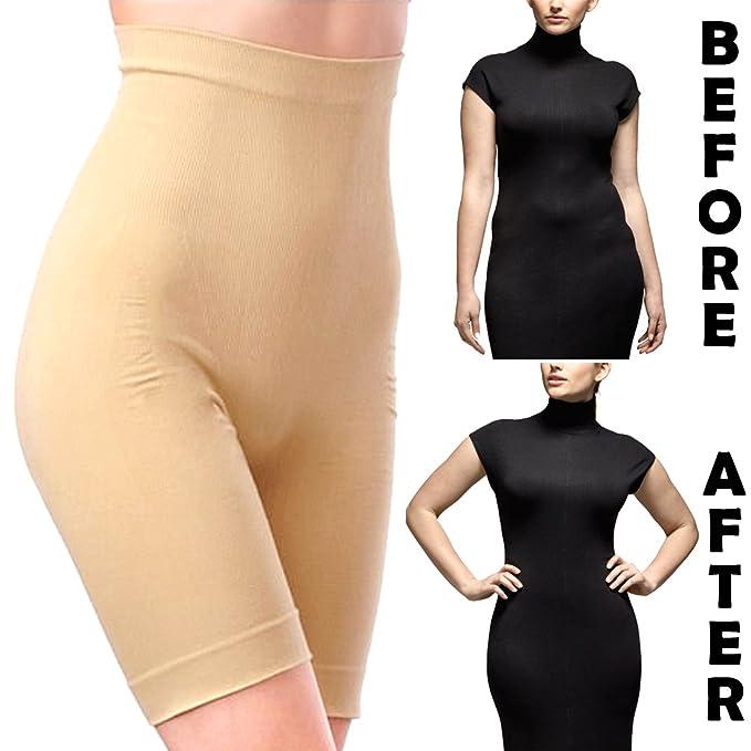 d69fc6f457 SJ Women s Nylon Weight Loss Slim n Lift Slimming Waist Body Shaper Trimmer  Belt (Brown