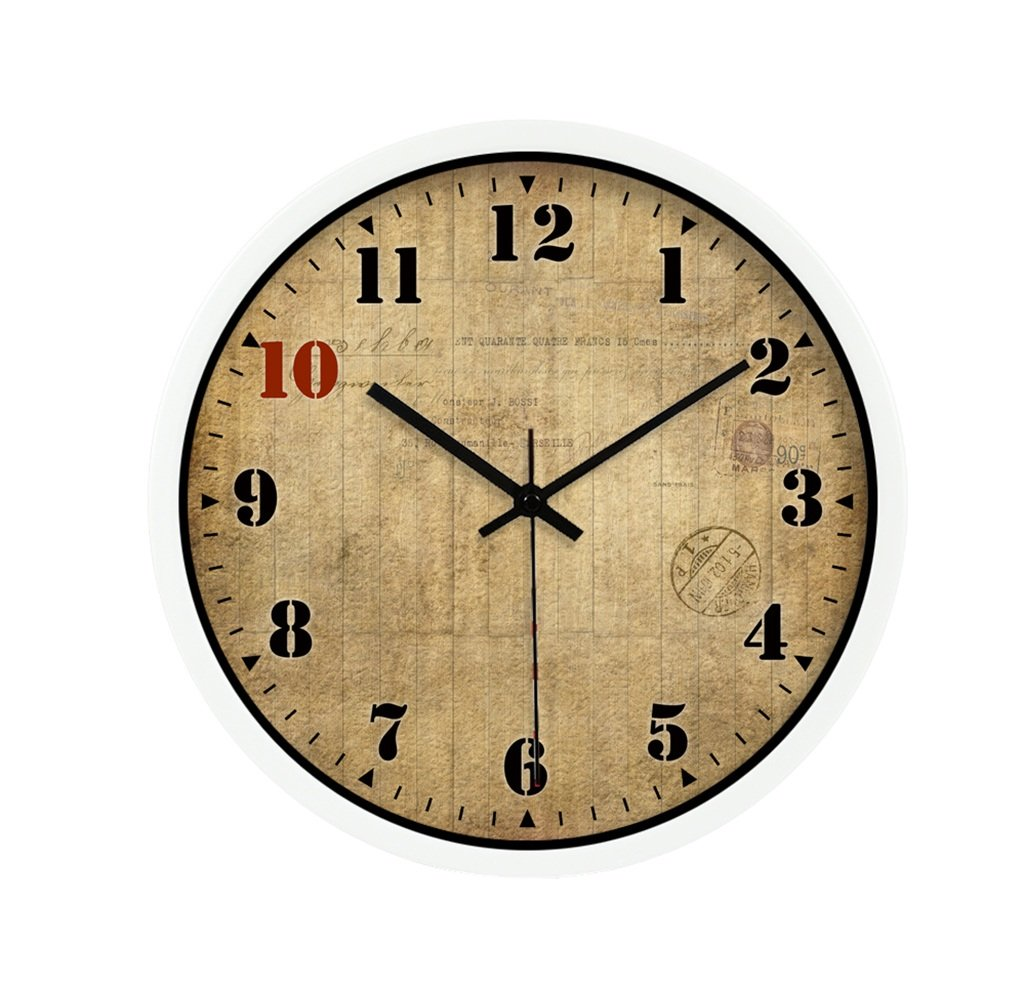 TGG 教室の壁時計、ビリヤードホール玩具店衣料品店モールコーヒーショップリビングルームベッドルームティーショップウォールクロックメタルウォールクロック30-40CM 壁時計 (色 : 白, サイズ さいず : 40*40cm) B07DMZJ1ZK 40*40cm|白 白 40*40cm