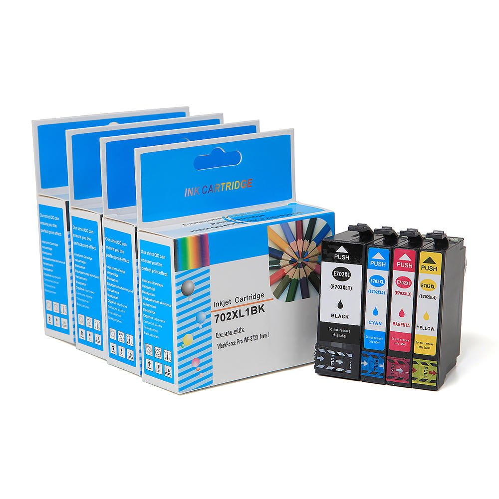 Save on Many Compatible Epson 702 XL High Yield T702XL T702XL220-S Cyan C 702XL Epson702 Epson702XL New Ink Cartridge Workforce Pro WF-3720 Moustache
