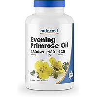 Nutricost Evening Primrose Oil 1,300mg, 120 Softgels - Cold Pressed, Non-GMO, Gluten Free, 120 Servings