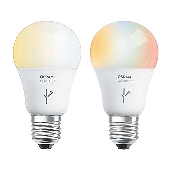 Sylvania LIGHTIFY 60 W A19 Tunable Smart bombilla LED + blanco/luz/RGB Bombilla