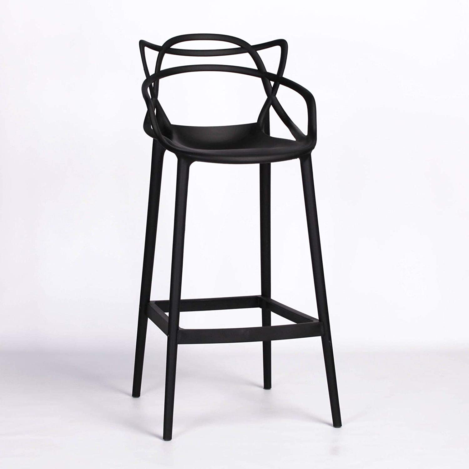 Superb Starck Inspired Masters Style Modern Black 77 5Cm Bar Stool Gmtry Best Dining Table And Chair Ideas Images Gmtryco