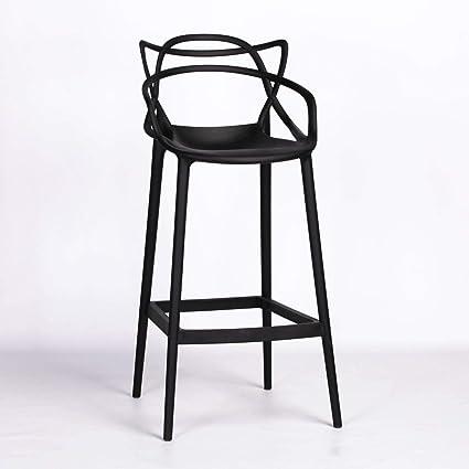 Pleasant Starck Inspired Masters Style Modern Black 77 5Cm Bar Stool Pdpeps Interior Chair Design Pdpepsorg