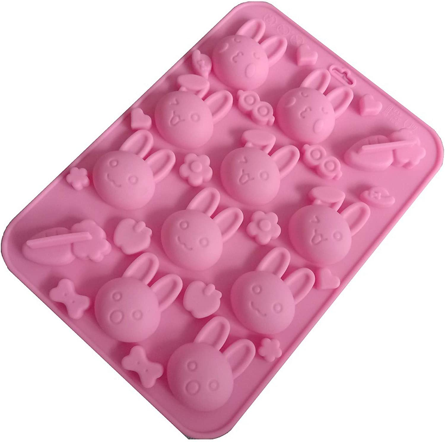 3D Flowers-Leafs Molds, Non-Stick Silicone Molds DIY Fondant Sugar Pudding Soap Candle Mould Food Grade Silicone for Wedding Valentine Cake Chocolate Dessert Cookie Mousse Cheesecake Decorating