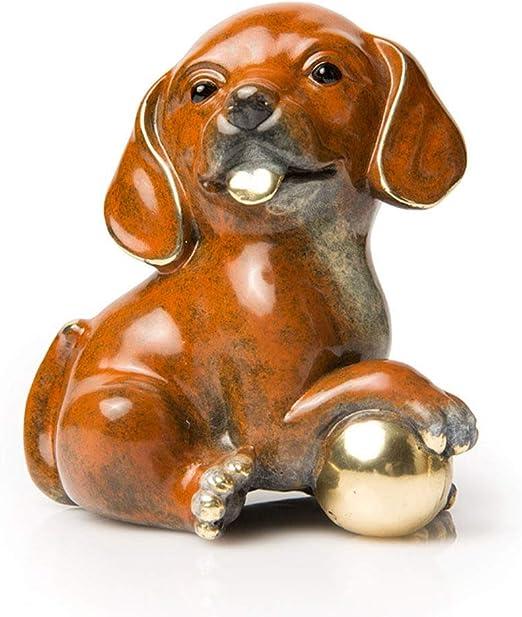 """Begging Dachshund Bronze Puppy Dog Figurine 12/"""" x 6/"""""""