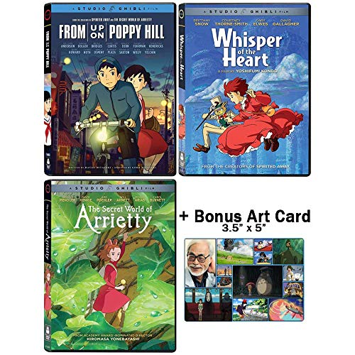 The Studio Ghibli Triple Feature Collection: Screenplay by Hayao Miyazaki (From Up On Poppy Hill / Whisper of the Heart / The Secret World of Arrietty) + Bonus Art Card