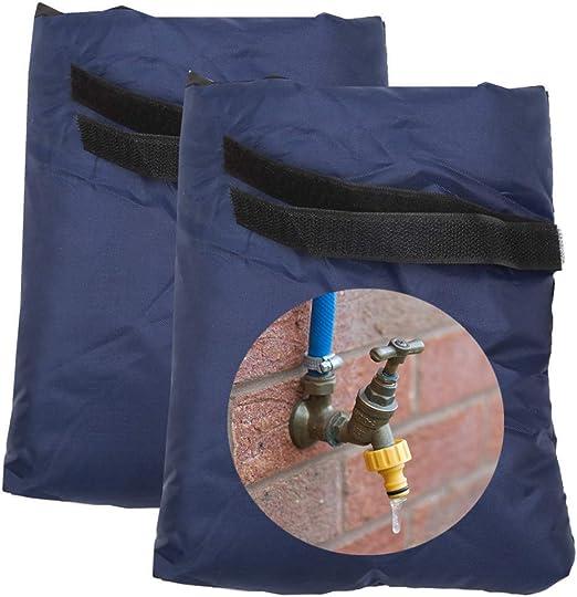 Blueprint PX - Juego de 2 fundas para grifo de exterior que protegerá tu grifo exterior de jardín de congelar una chaqueta térmica impermeable, azul oscuro: Amazon.es: Jardín