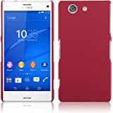 Gioiabazar Ultra Thin Rubberized Matte Hard Case Back Cover for Sony Xperia Z3 Compact D5803 Red